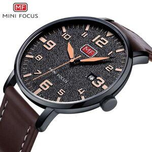 DHgate wristwatches mini focus fashion genuine leather watch for men luxury casual men's wristwatch clock quartz arabic number calendar analog