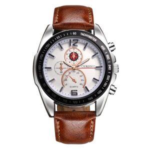DHgate wristwatches 2021 fashion quartz watch men analog waterproof leather strap stainless steel case clock relogio masculino saat