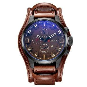 DHgate wristwatches relogio masculino curren mens watches leather strap waterproof sport quartz watch military male clock 8225