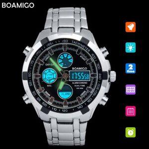 DHgate wristwatches boamigo analog & digital men military watches stainless steel date week alarm clock led light man brand chronograph sport watch