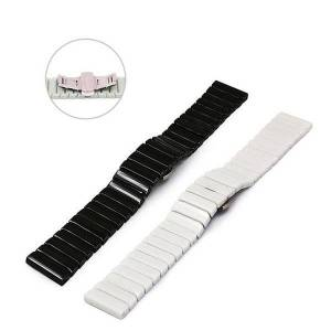 DHgate watch bands 20mm/22mm black and white ceramic bamboo butterfly buckle strap is suitable for huawei gt samsung smart replacement