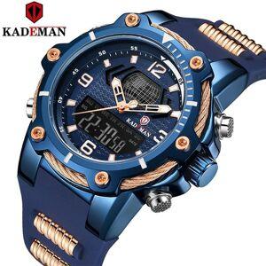DHgate wristwatches kademan men's fashion sport leather waterproof quartz watches male date alarm led digital analog rubber relogio wrist masc