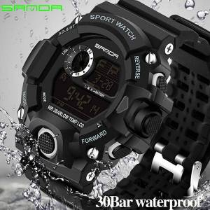 DHgate 2019 luxury real shock analog quartz digital mens watch 2018 new brand sanda fashion g style 50m waterproof sports military watches