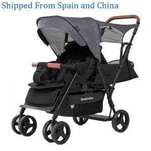 DHgate seebaby twins baby stroller double children 4-wheel baby stroller back seat with standing board t12 european style