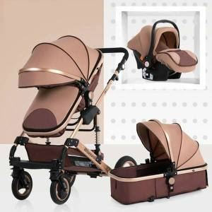 DHgate high-view baby stroller can sit and lie down and fold super lightweight 3-in-1 aluminum alloy children's four-wheeled stroller