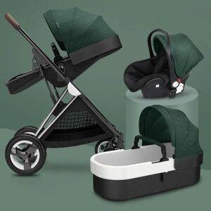 DHgate high landscape 3 in 1 baby stroller can sit reclining folding ultra-light baby newborn child four-wheel stroller