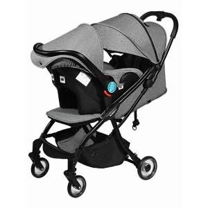 DHgate three-in-one baby stroller can sit, recline and lightly fold the newborn basket type multifunctional twin stroller