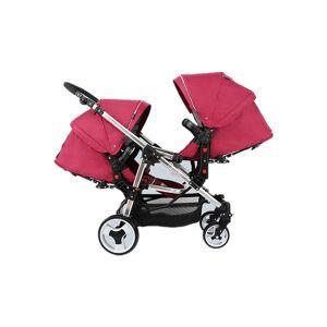 DHgate poussette double convertible twin baby stroller light absorber high landscape newborn stroller folding four wheels pram