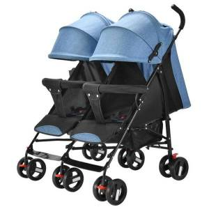 DHgate twin baby stroller can sit and lie newborn stroller umbrella car double ultra light portable folding bebes accesorios