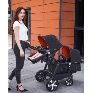 DHgate twin stroller high landscape dragon phoenix two twin stroller can sit and lie in front and back one click quick folding