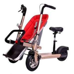 DHgate parent-child bike e taga children's electric balance scooter slip baby 2 in 1 strollers#