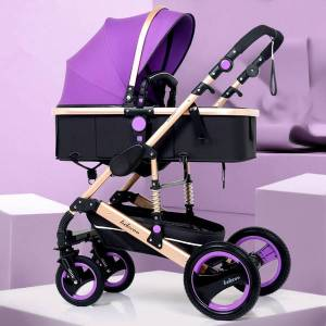DHgate lightweight stroller high landscape baby stroller 3 in 1 portable reversible 3 in 1 travel pram baby pushchair