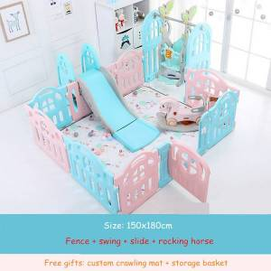 DHgate kids baby fence playground indoor family amusement park baby toddler fence safety playpen for barriere de securite enfant