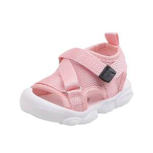 DHgate 2020 new summer new baby sandal bag head anti kicking soft lightweight closed-toe outdoor kids toddler sandasl for baby shoes