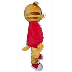 DHgate 2020 factory direct new daniel tiger mascot costume daniel tiger fur mascot costumes for halloween party