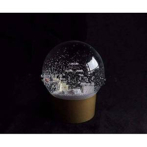DHgate golden snow globe with perfume bottle inside 2016 snow crystal ball for special birthday novelty christmas