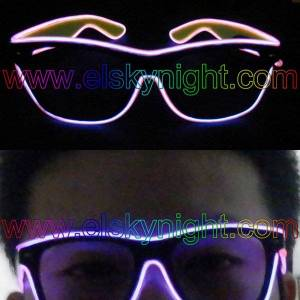 DHgate 2021 latesion with glasses el ten fashion colors powered by 3v inverter without lens+new