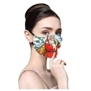 DHgate merry reused face printed breathable christmas outdoor mask mondkapjes wasbaar mascararilla #m2