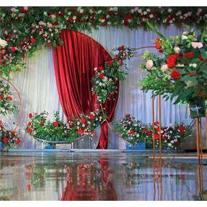 DHgate decorate the round wedding arch, arch bridge garden arch 1.5 meters, background decoration accessories, wedding flower rack