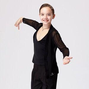 DHgate 2021 new boyss latin dance costume 2pcs set  black mesh coat salsa cha cha competition dance wear training clothes vdb3223