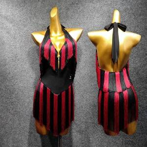 DHgate 2021 latin dance dress women performance costume new dress fringe dance clothing tassel skirt party show dance clothes 1447