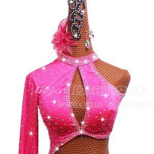 DHgate sparkly rhinestones latin dance dress women dance bodysuit ladies samba salsa competition performance dancing clothes