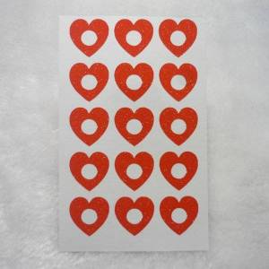 DHgate 15mm red glitter heart hole reinforcement stickers gift wrap