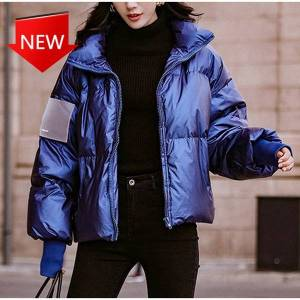DHgate coats quilted down cotton female fashion shiny woman's jacket peer-proof parka winter 's girly -wind proof