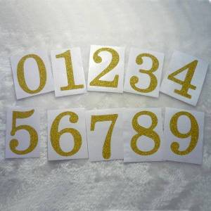 DHgate 50mm/2inch - gold glitter number stickers decorative set from 0 to 9 gift wrap