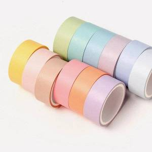 DHgate color macaron washi tape set 7.5mm slim 15mm wide adhesive decoration tapes masking stickers diary stationery school gift wrap