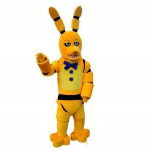 DHgate 2019 factory outlets new five nights at freddy's fnaf toy creepy yellow bunny mascot cartoon christmas clothing