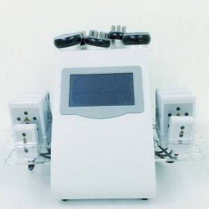DHgate promotion 6 in 1 ultrasonic cavitation vacuum radio frequency lipo laser slimming machine for spa