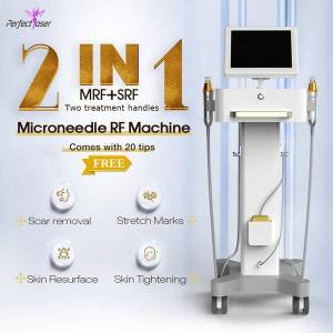 DHgate 2in 1 microneedling stretch marks removal machine fractional rf face lift wrinkles reduce microneedle anti aging acne scar remover