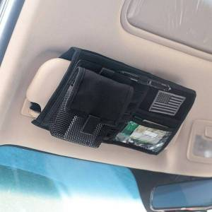 DHgate 1000d nylon tactical molle vehicle visor panel truck car sun visor organizer cd bag holder car styling useful