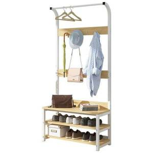 DHgate new multi-functional iron clothes hanger with coat shoe shelf bedroom living room modern storage drying rack space saving
