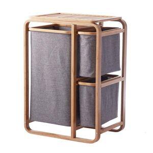 DHgate gird bamboo laundry basket dirty clothes bathroom hamper storage organizer bags