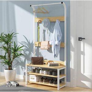 DHgate multifunctional wood storage cabinet with coat rack shoe shelf bedroom living room modern hanger space saving hangers & racks