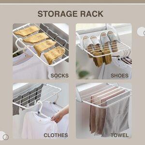 DHgate multifunctional foldable drying rack household indoor outdoor balcony adjustable shelf clothes towel shoe hanger dsd666 hangers & racks