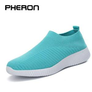 DHgate light sneakers women running shoes women breathable mesh slip-on shoes woman sports 2020 zapatillas mujer deportiva