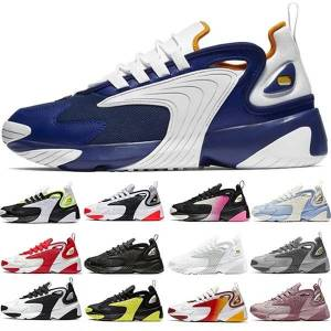 DHgate new arrival zoom 2k running shoes mens womens trainers triple black white red yellow men women sneakers sports size 36-45