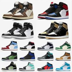 DHgate jumpman 1 mens basketball shoes shattered backboard unc 1s gold 3 cactus jack obsidian banned bred toe men women trainer sports sneakers