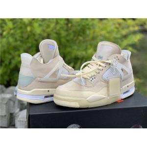 DHgate new off authentic 4 sp wmns sail cream white basketball shoes retro muslin white black man women sneakers with box cv9388-100