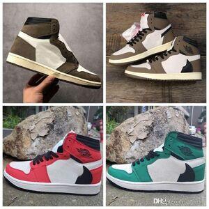 DHgate 2019 new travis scotts 1 1s high og ts sp dark mocha green red mens basketball shoes women sports sneakers size 36-45