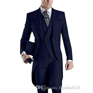 DHgate new arrival black/white/grey/light grey/purple/burgundy/blue tailcoat groomsmen men wedding party suits (jacket+pants+vest+tie) no:2167