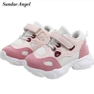 DHgate sundae angel baby boy sport shoes pu eva soft sole anti-slip fashion infant first walkers breathable crib girl shoes sneakers