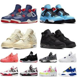 DHgate jumpman 4 4s cool grey mens luxuryhigh basketball shoes sail military blue new bred neon retro trainers sports sneakers size us 13