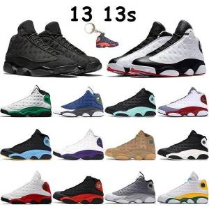 DHgate mens 13 13s basketball shoes jumpman sneakers playoff flint black cat island lucky green bred low pure platinum chaussures men trainers