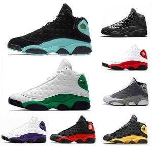 DHgate xiii 13s 13 men basketball shoes sports sneaker 41-47 atmosphere grey cap and gown phantom black infrared island green pure money low chutne