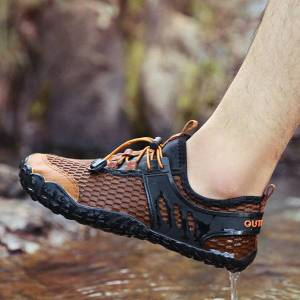 DHgate men women nonslip flat shoes wading water sneakers durable hiking shoes sneakers outdoor climbing trekking sport footwear