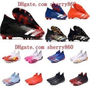 DHgate 2021 mens soccer shoes predator mutator 20.1 fg high ankle cleats 20+ football boots botas de futbol